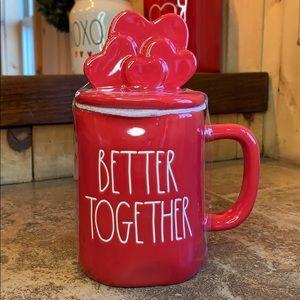 "Rae Dunn ""Better Together"" Mug w/Heart Shaped Lid"
